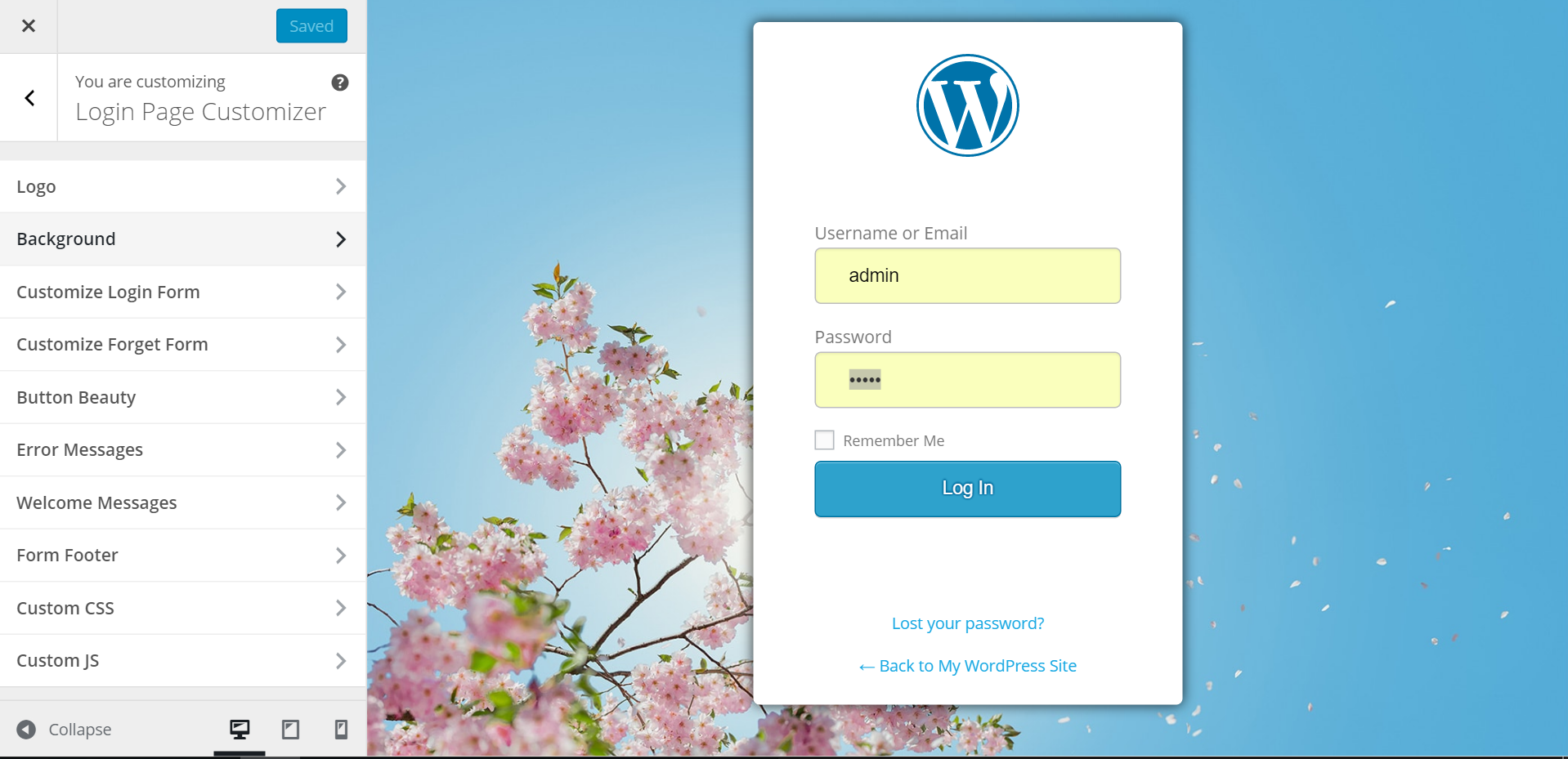 customizing login in wordpress Custom login 20 was 140% faster than version 10, and version 30 is now even better minimum wordpress version is 40 for more information visit the official custom login page.