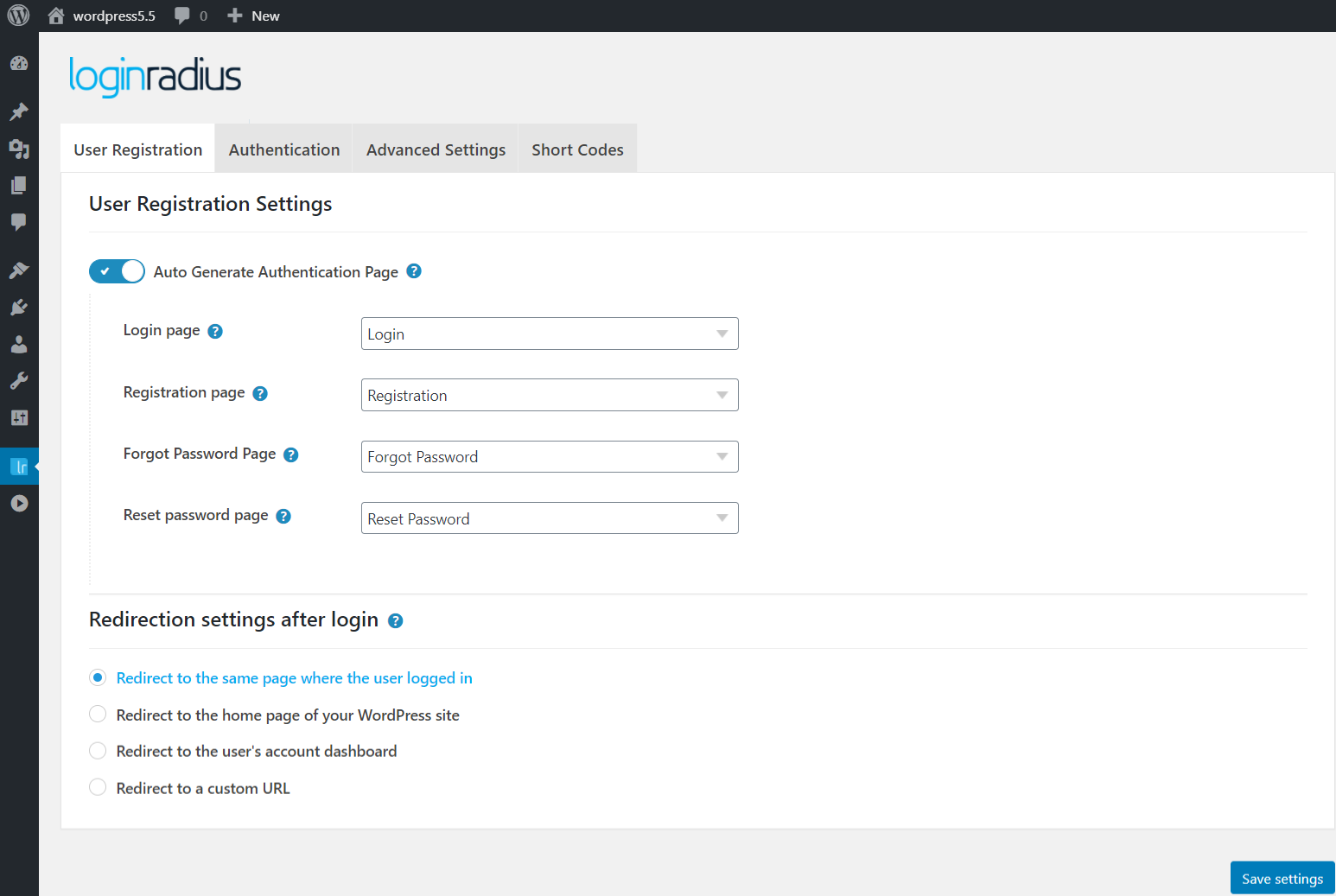 loginradius-for-wordpress screenshot 1