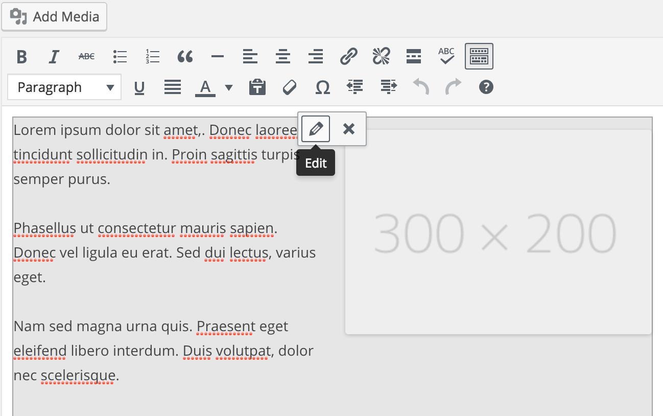 Using Shortcode UI, edit existing <code>[lorem]</code> shortcode.