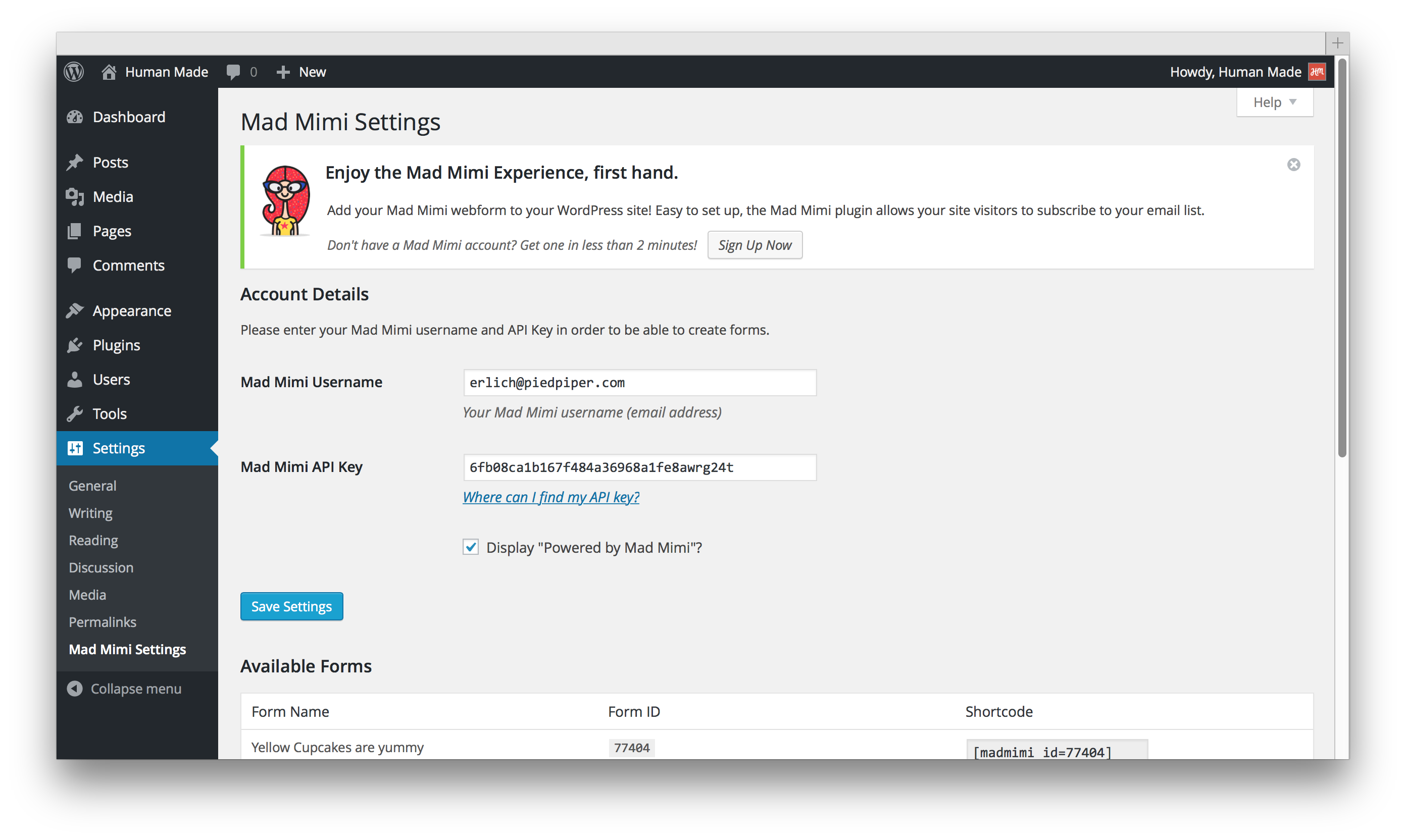 mad-mimi-sign-up-forms screenshot 1