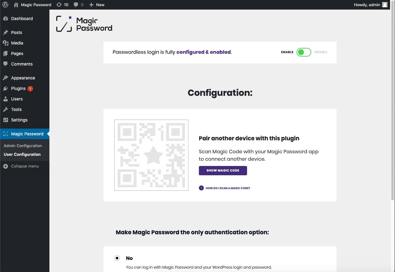 Magic Password
