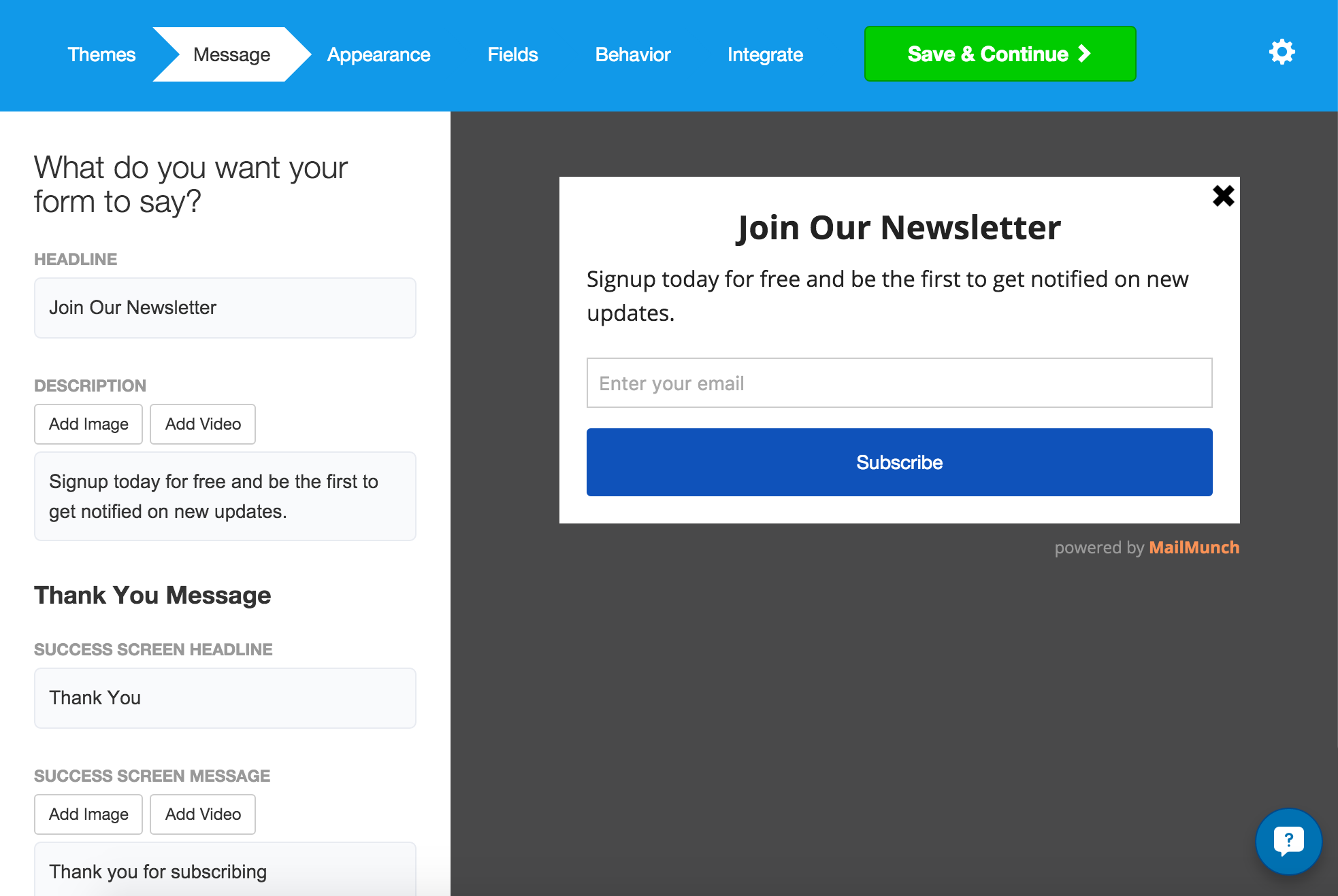 MailChimp Forms By MailMunch WordPressorg - Mailchimp mobile templates