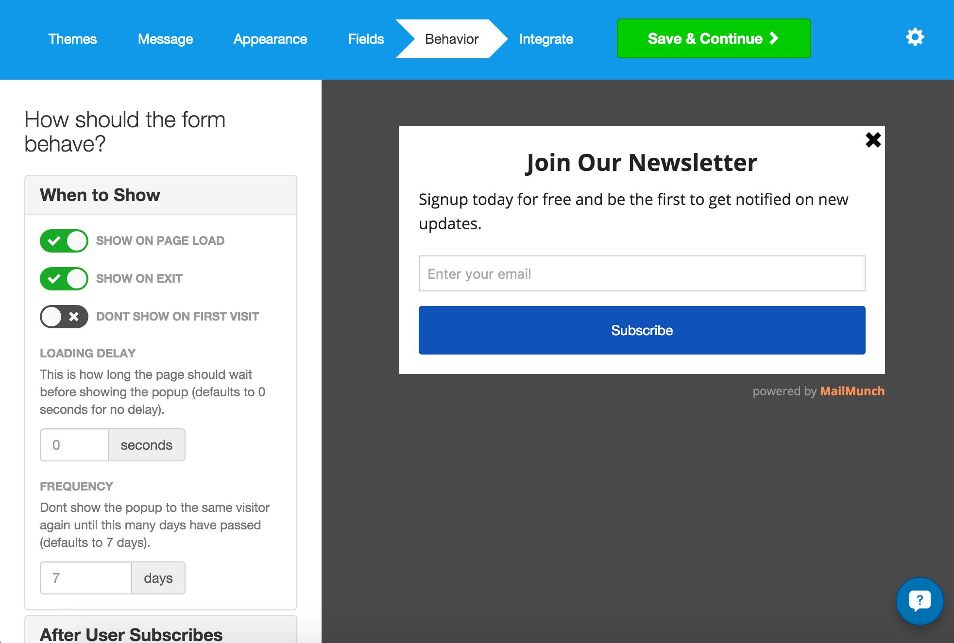 MailChimp Forms by MailMunch | WordPress.org