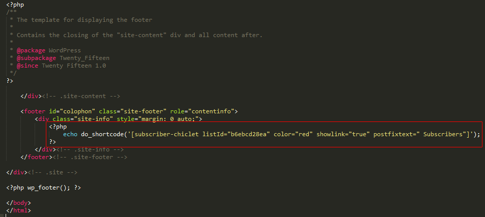 Add the plugin programmatically to your theme files