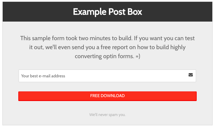 MailChimp Forms by Optin Cat – Grow Your MailChimp List