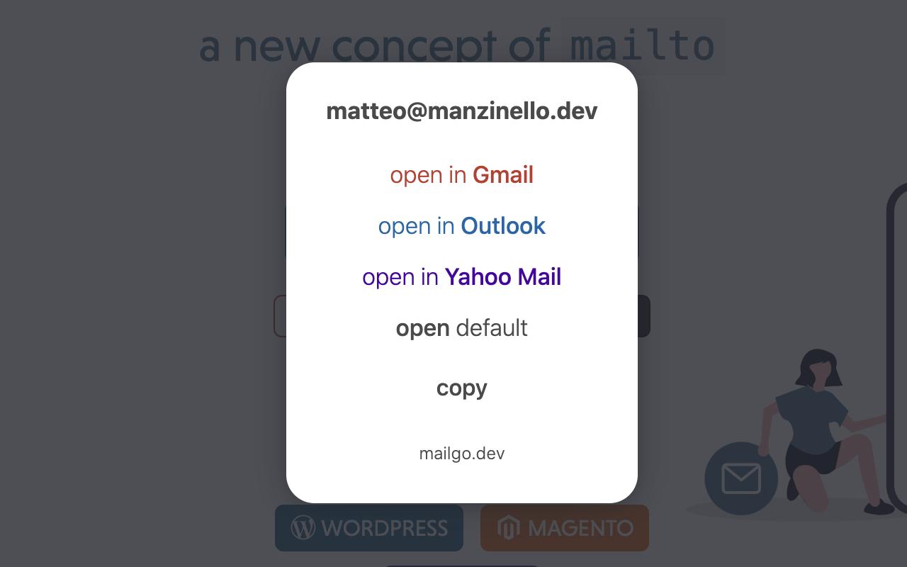mailgo modal for mailto