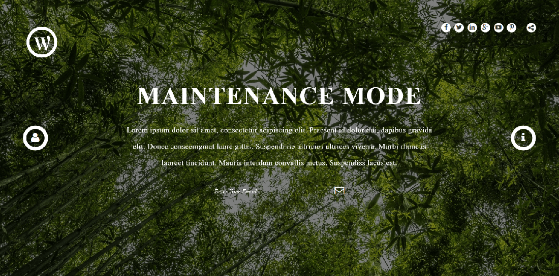 "Maintenance Mode Page Template With Different Background 2 <a href=""http://wpshopmart.com/plugins/coming-soon-pro/"">View More Screenshot Here</a>"