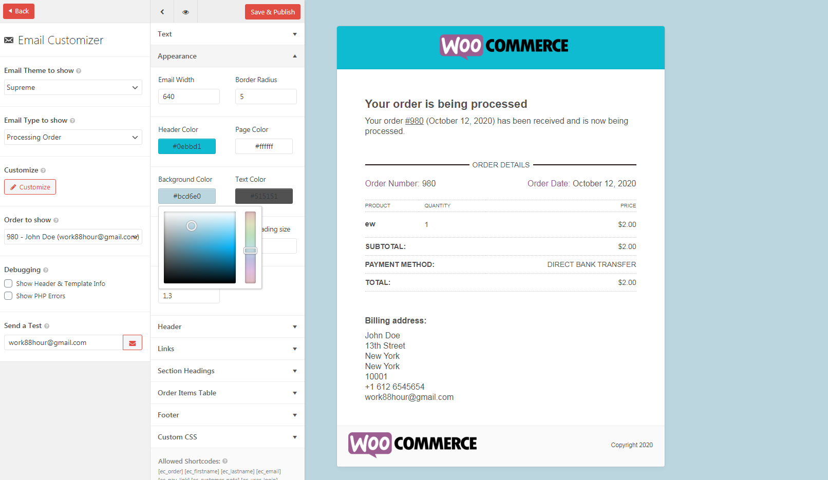 Make Email Customizer for WooCommerce