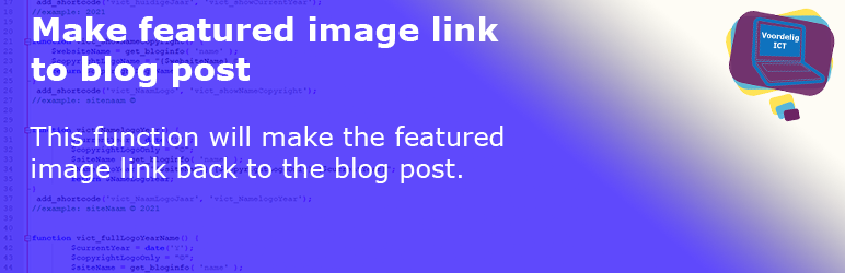Make featured image link to blog post