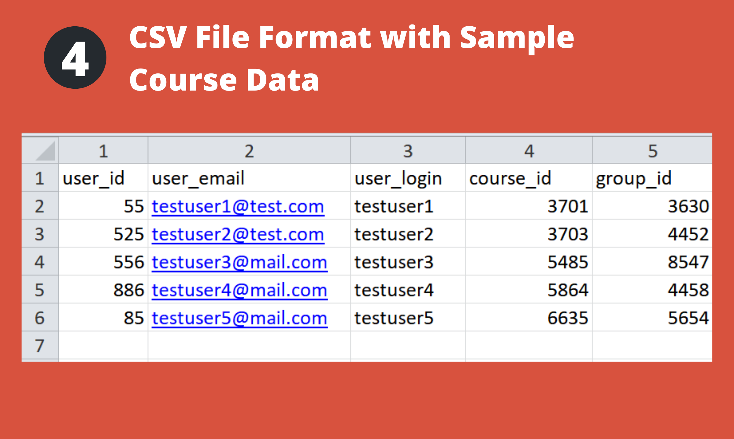 CSV Upload Format