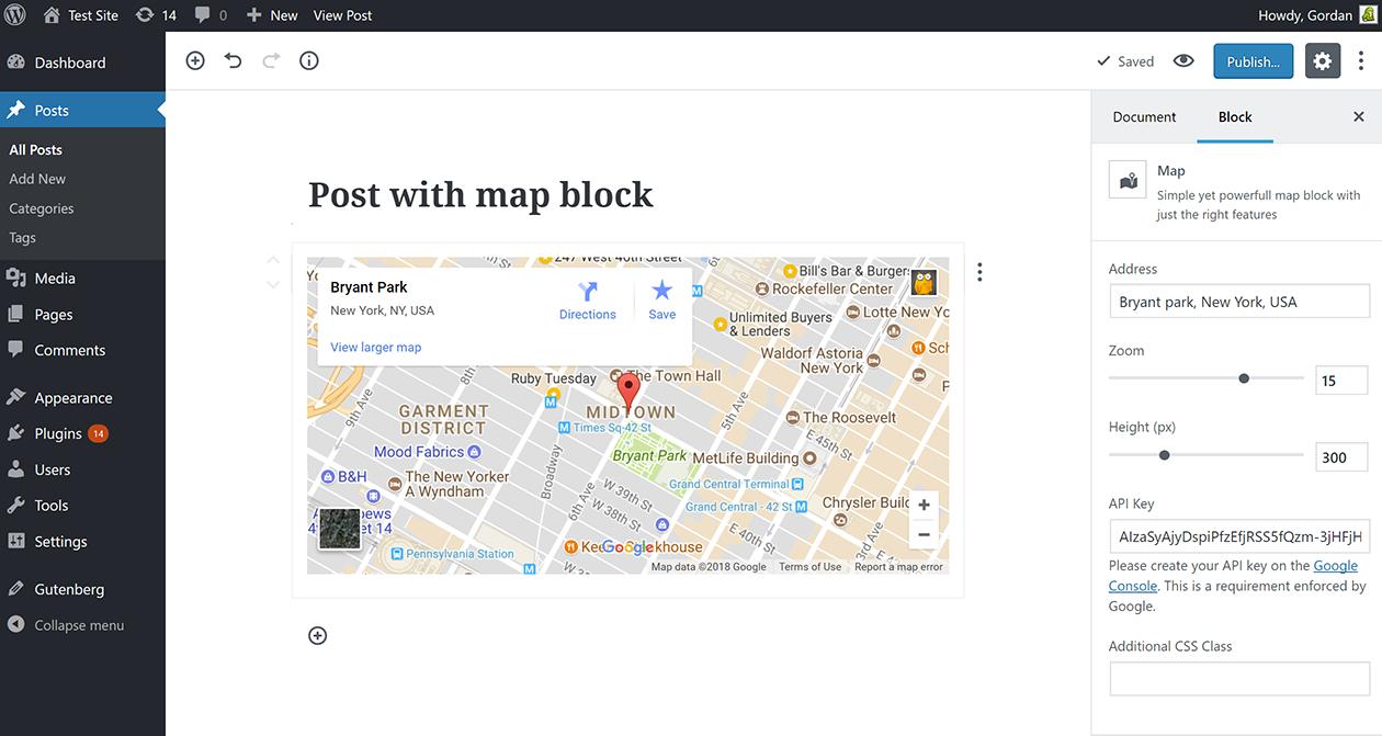 古腾堡地图块的谷歌地图