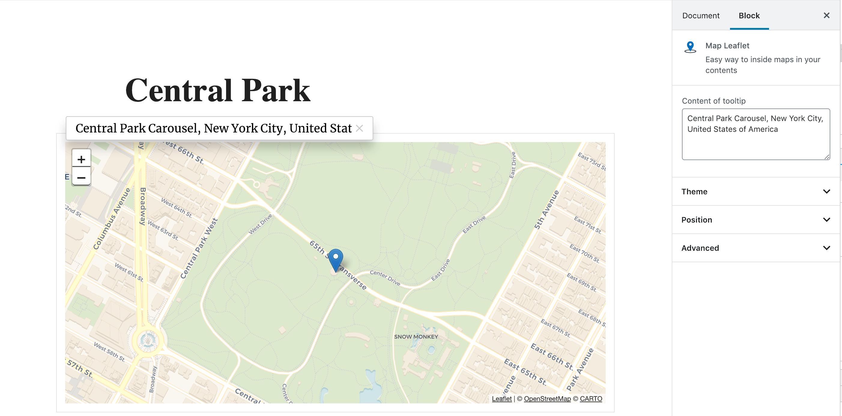 Map Block Leaflet – WordPress plugin | WordPress org
