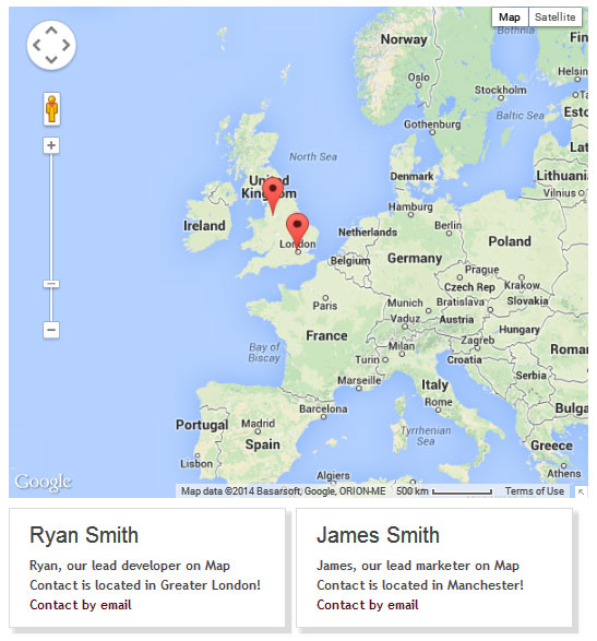 Contact Maps with Maps and Address Book enabled without pictures.