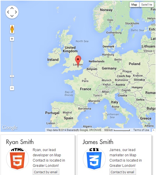 Contact Maps with Maps and Address Book enabled with pictures.