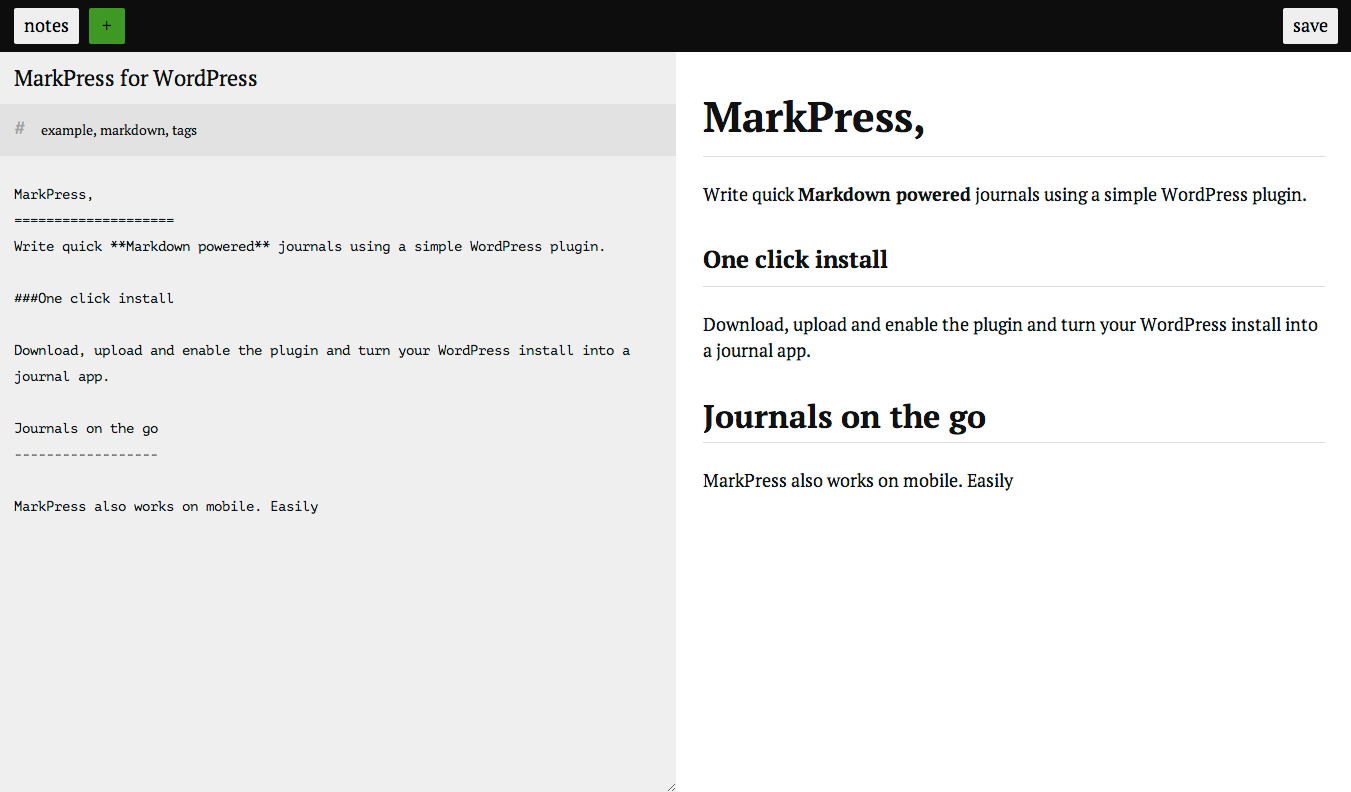 Markdown editor and styled content