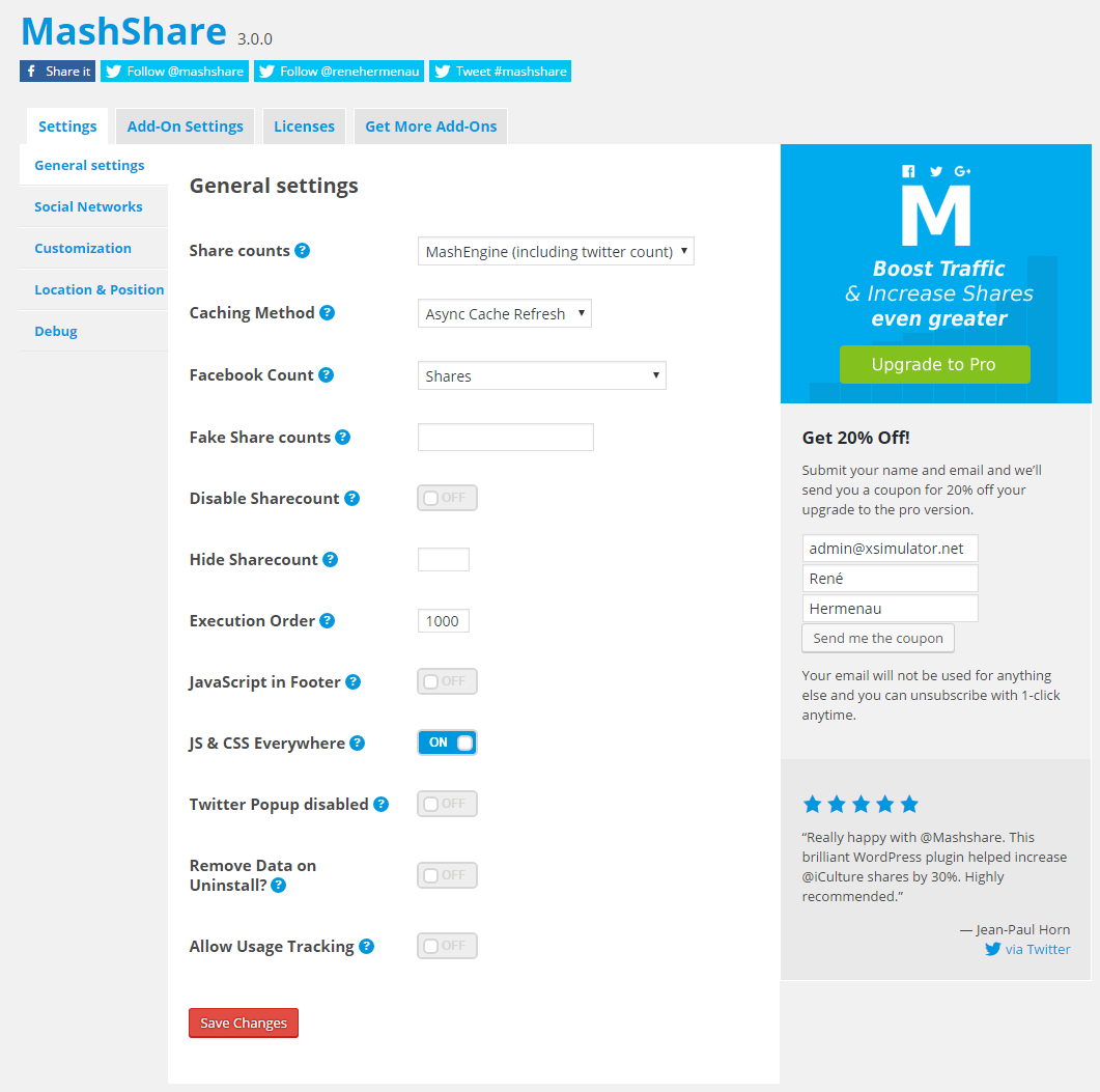 Extend MashShare with great Add-Ons
