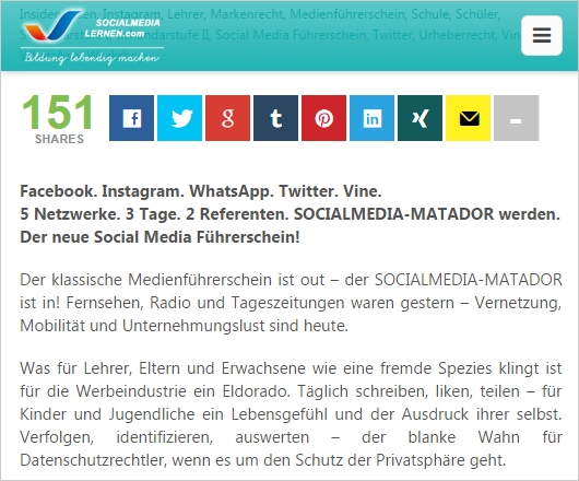 Responsive Design + Social-Networks (separate Add-Ons)