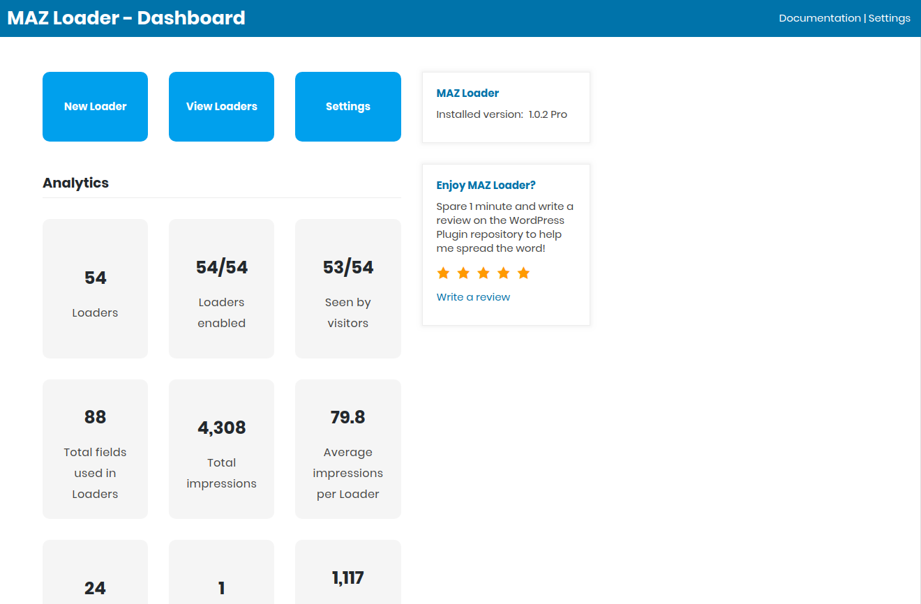 MAZ Loader – WordPress的预加载器生成器