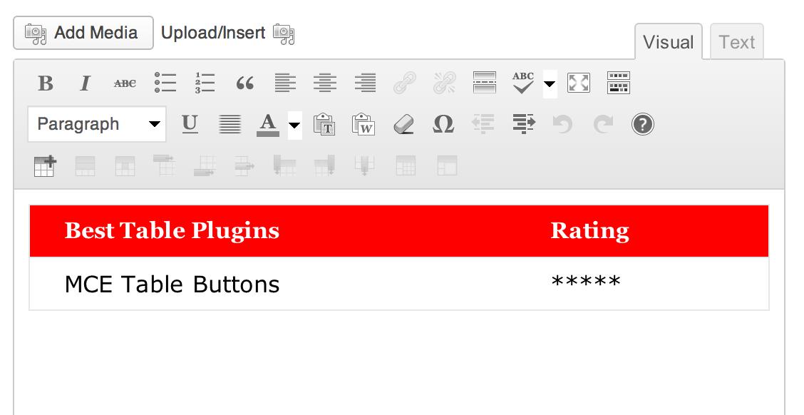 Mce table buttons wordpress plugins for Table design wordpress plugin