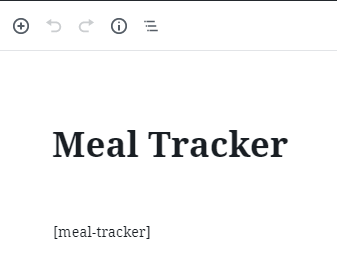 [meal-tracker] placement.