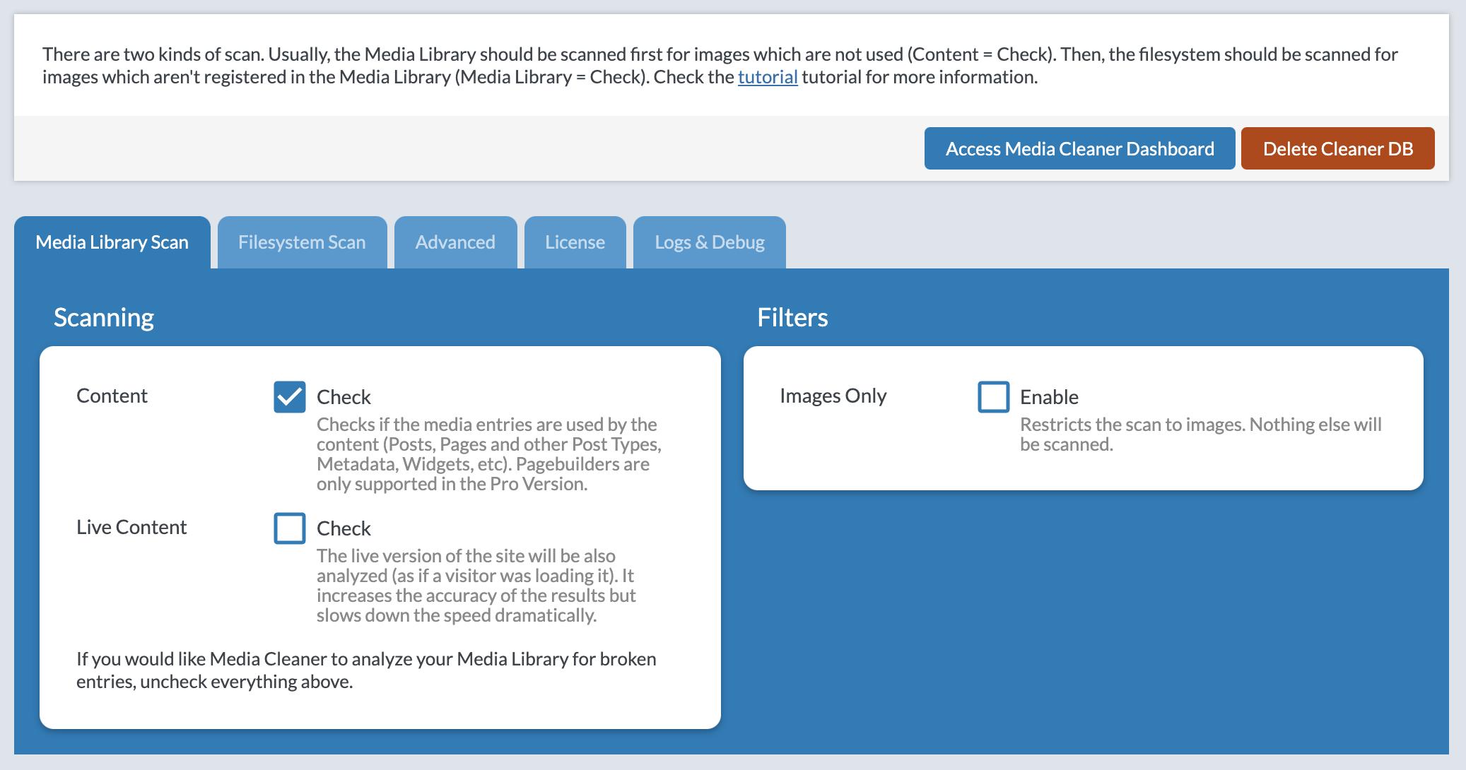 Media Cleaner – WordPress plugin | WordPress org