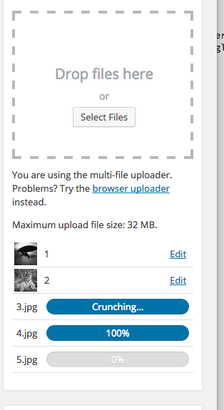 Upload multiple files simultaneously