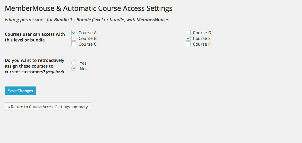 membermouse-addon-for-wp-courseware screenshot 2
