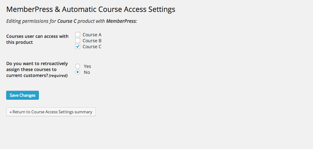 memberpress-addon-for-wp-courseware screenshot 2