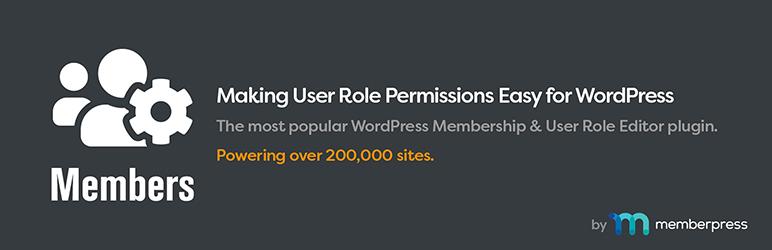 Members — Membership & User Role Editor Plugin