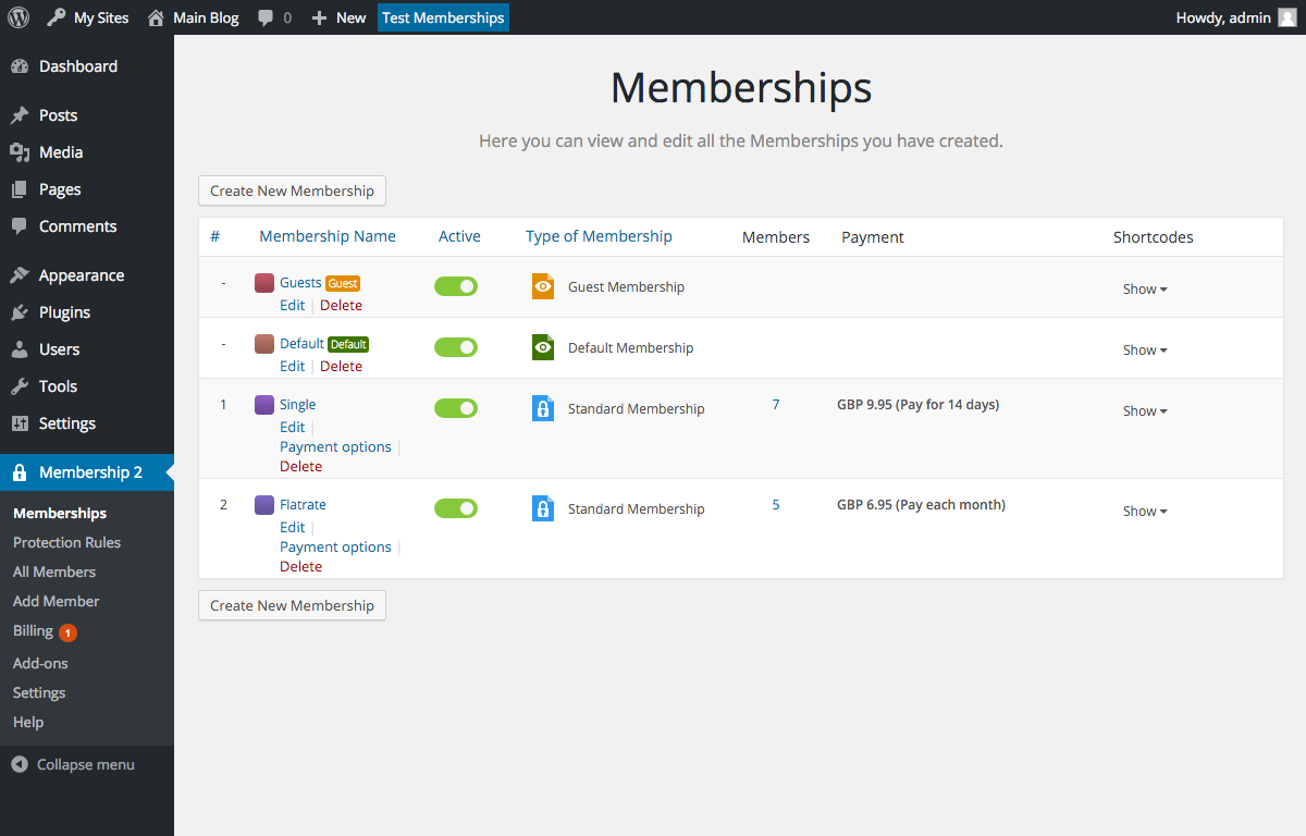 membership screenshot 1