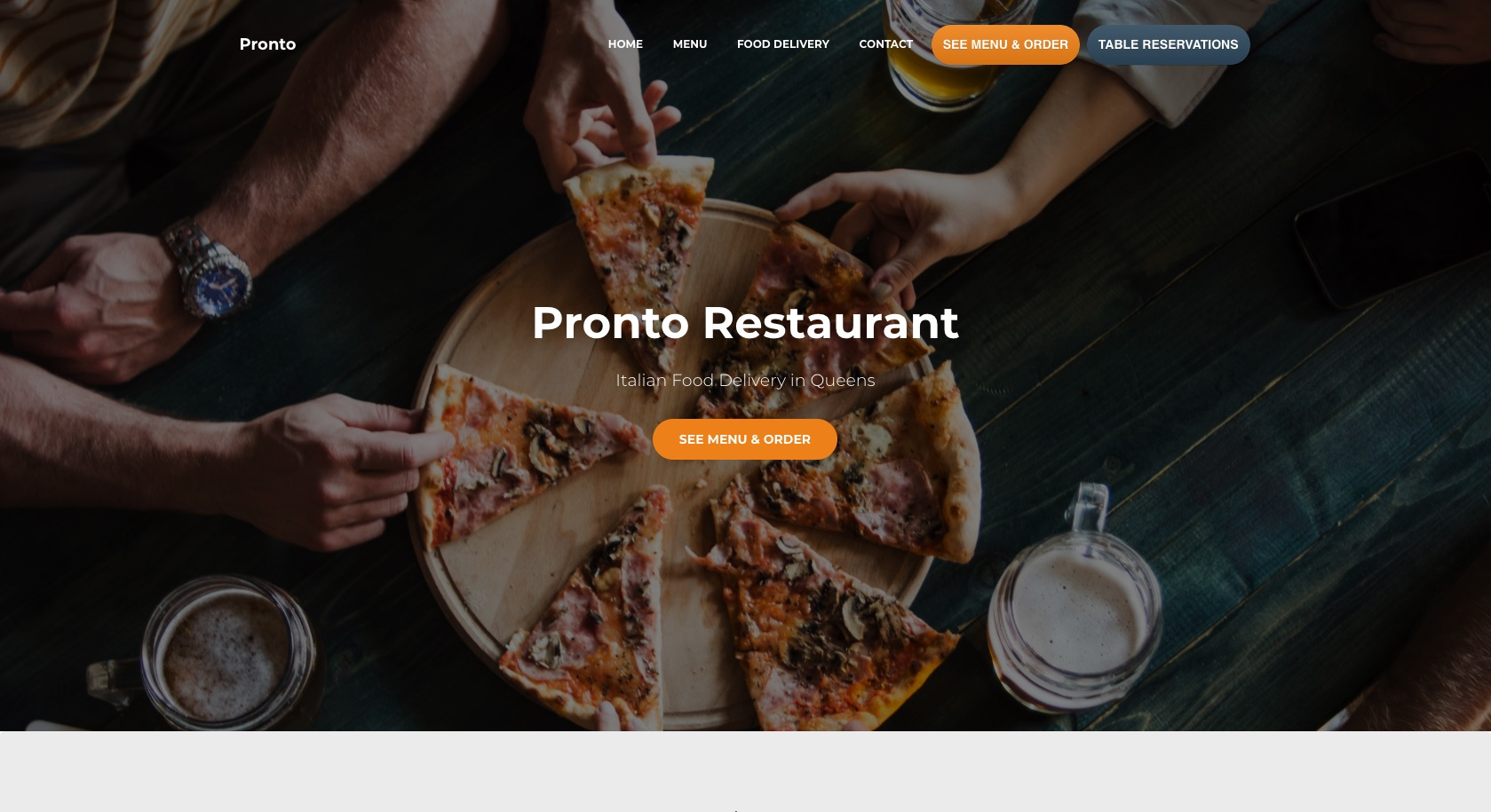 Restaurant Menu Food Ordering System Table Reservation