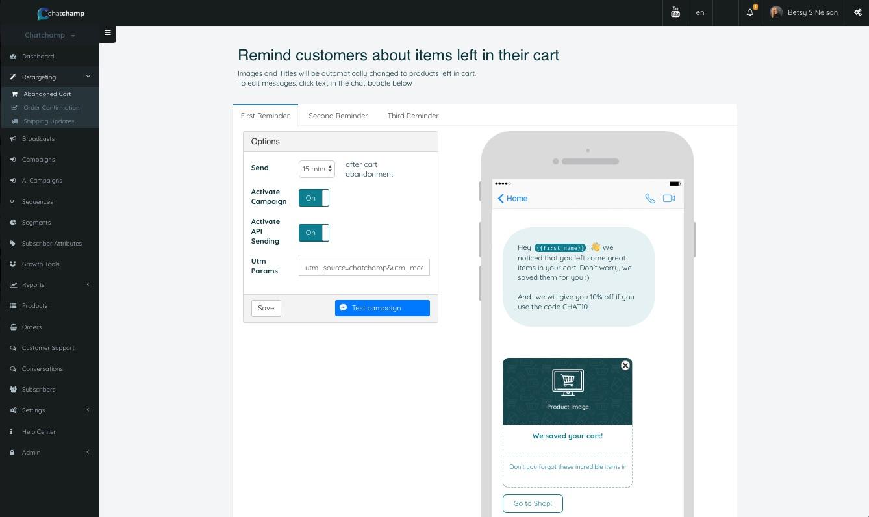 Messenger Marketing for WooCommerce