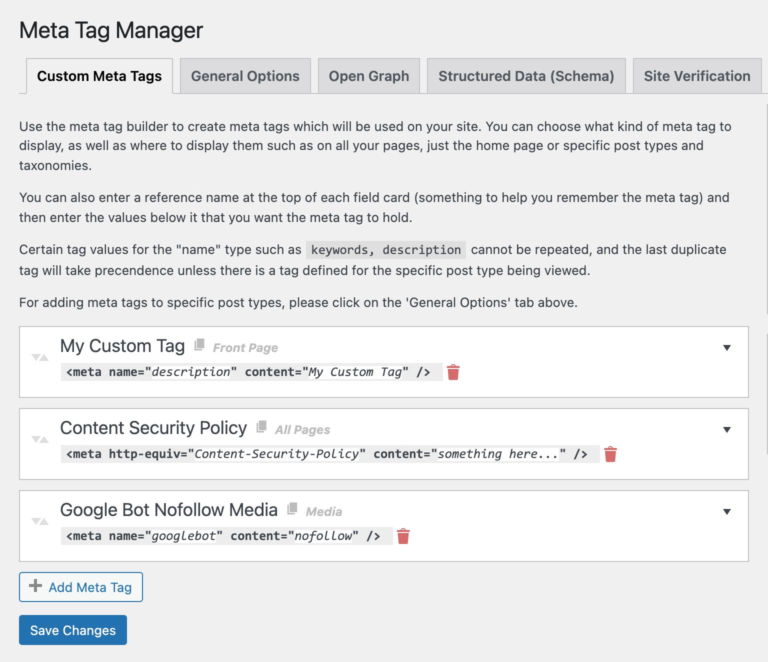 Meta Tag Manager Wordpress Plugin Wordpress Org