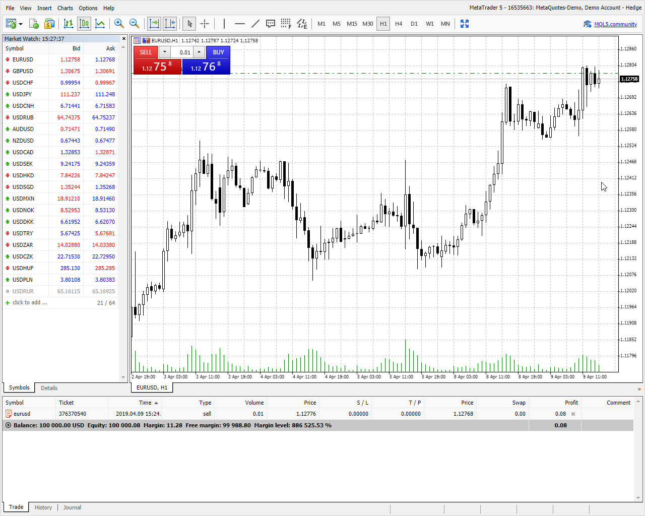 MetaTrader Web终端