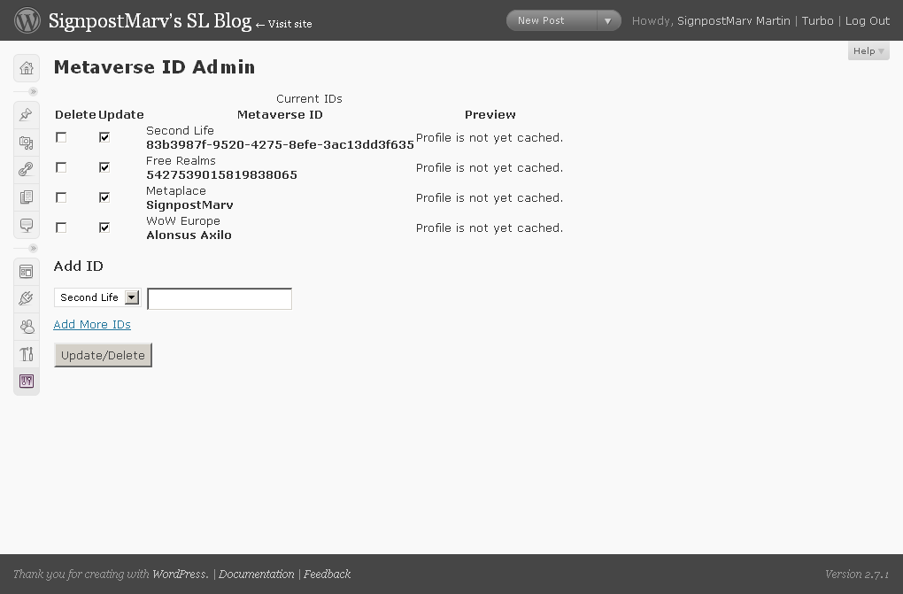 Profiles haven't been cached yet! Better force an update to get the profiles cached.