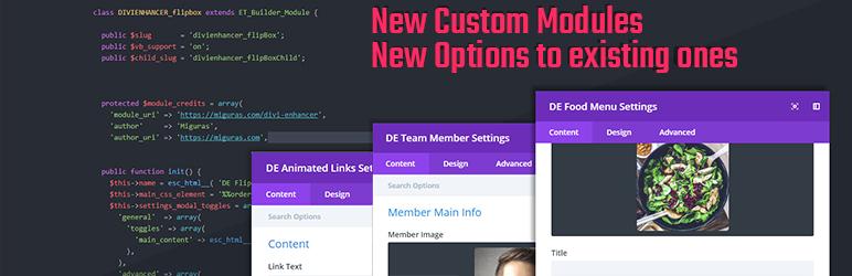 DIVI Enhancer – DIVI Modules and Options – WordPress plugin