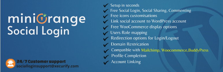 WordPress Social Login (Discord, Google, Twitter, LinkedIn)