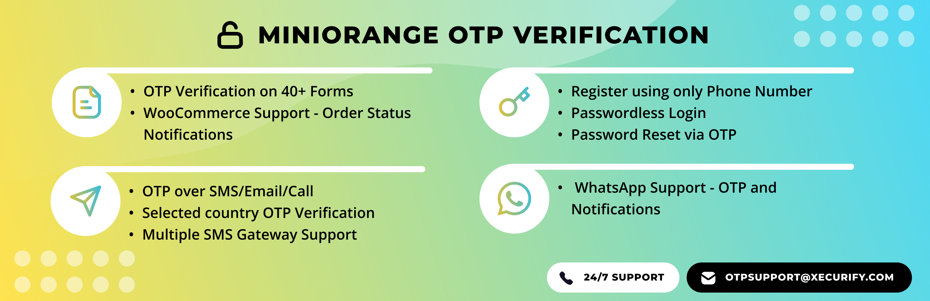 Email Verification / SMS Verification / OTP Verification – WordPress