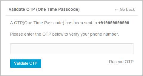 Mobile Number Verification via OTP