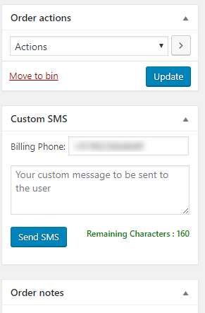 WooCommerce SMS Customized SMS delivery