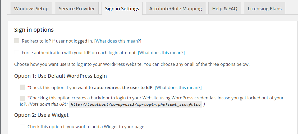 Single Sign On for Windows – WordPress plugin | WordPress org