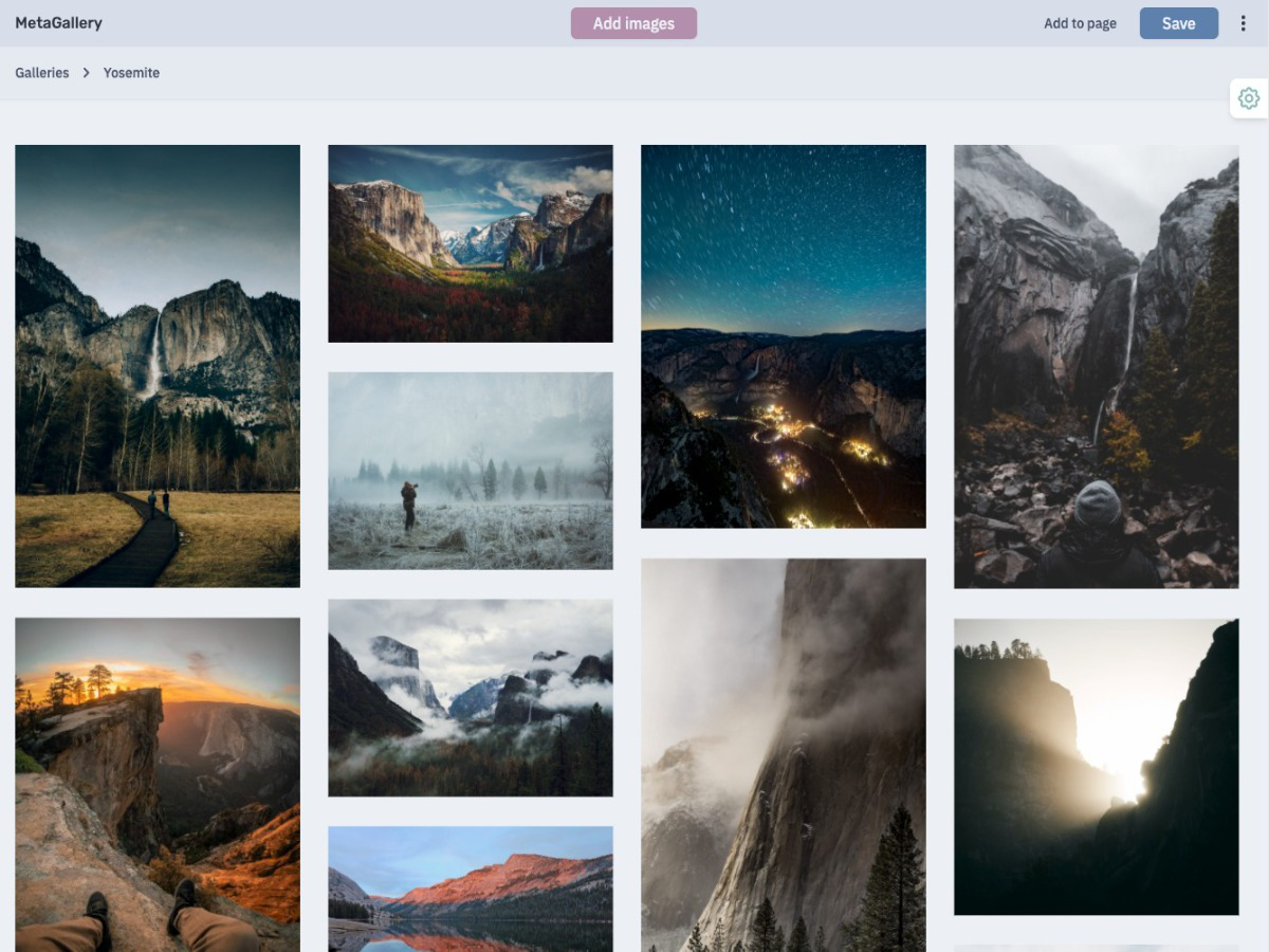 Gallery example - Create impressive galleries