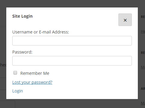 The login form in twentytwelve