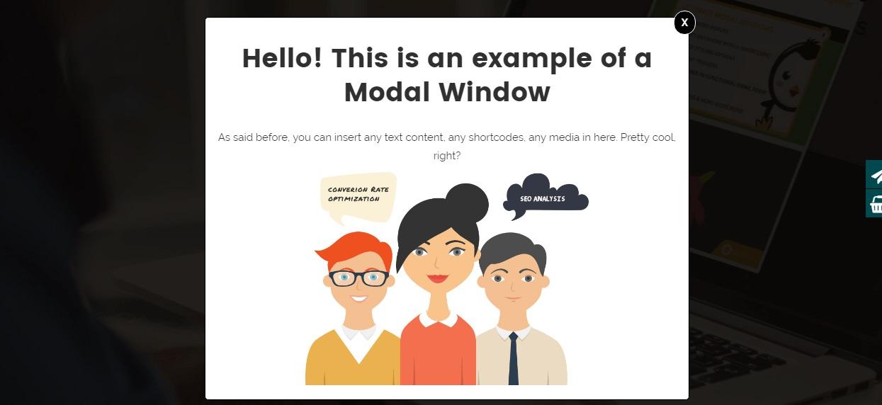 Create modal windows & insert any content
