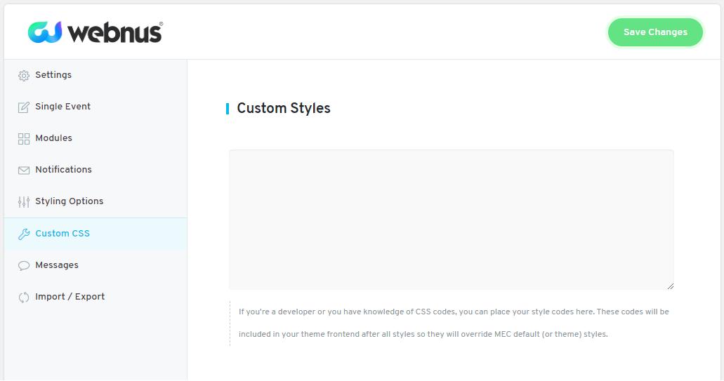 WordPress Event Calendar - Import/Export