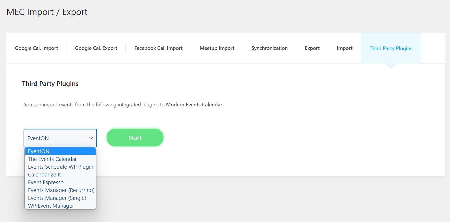 WordPress Event Calendar - Single event edit page