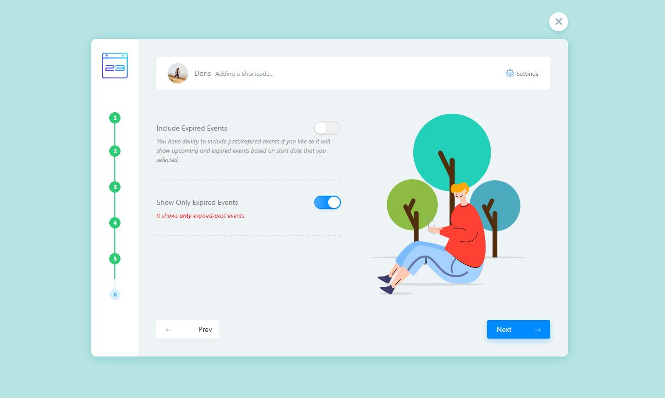 WordPress Event Calendar - Monthly view(Fluent View Layouts Addon)