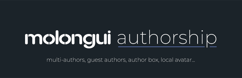 Molongui Authorship – WordPress plugin | WordPress org