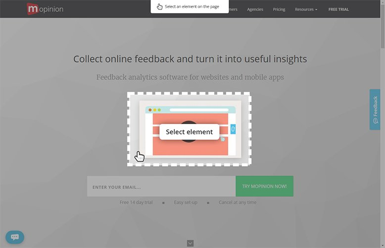 Visual Feedback: Allow users to select page elements that they want to provide feedback on. This page element is then submitted as a screenshot together with all other feedback.