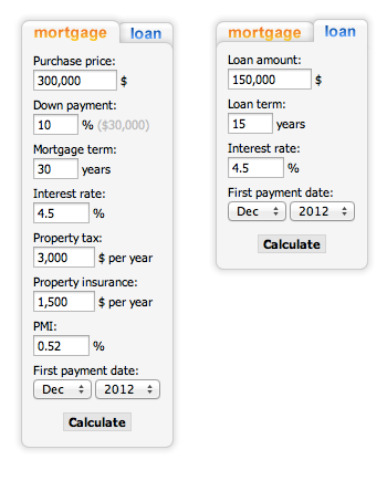 mortgage-loan-calculator screenshot 1